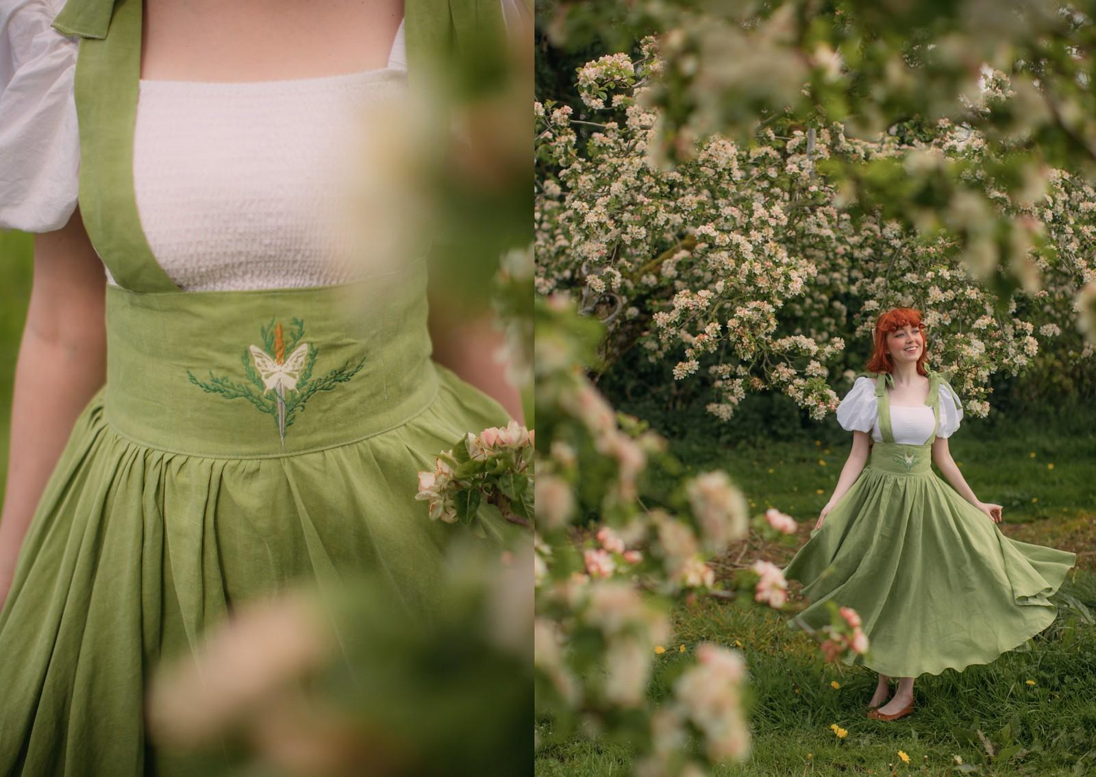 cottagecore dress, cottagecore shoot, cottagecore aethestic,fairycore, cottagefairy, nourandthemerchant