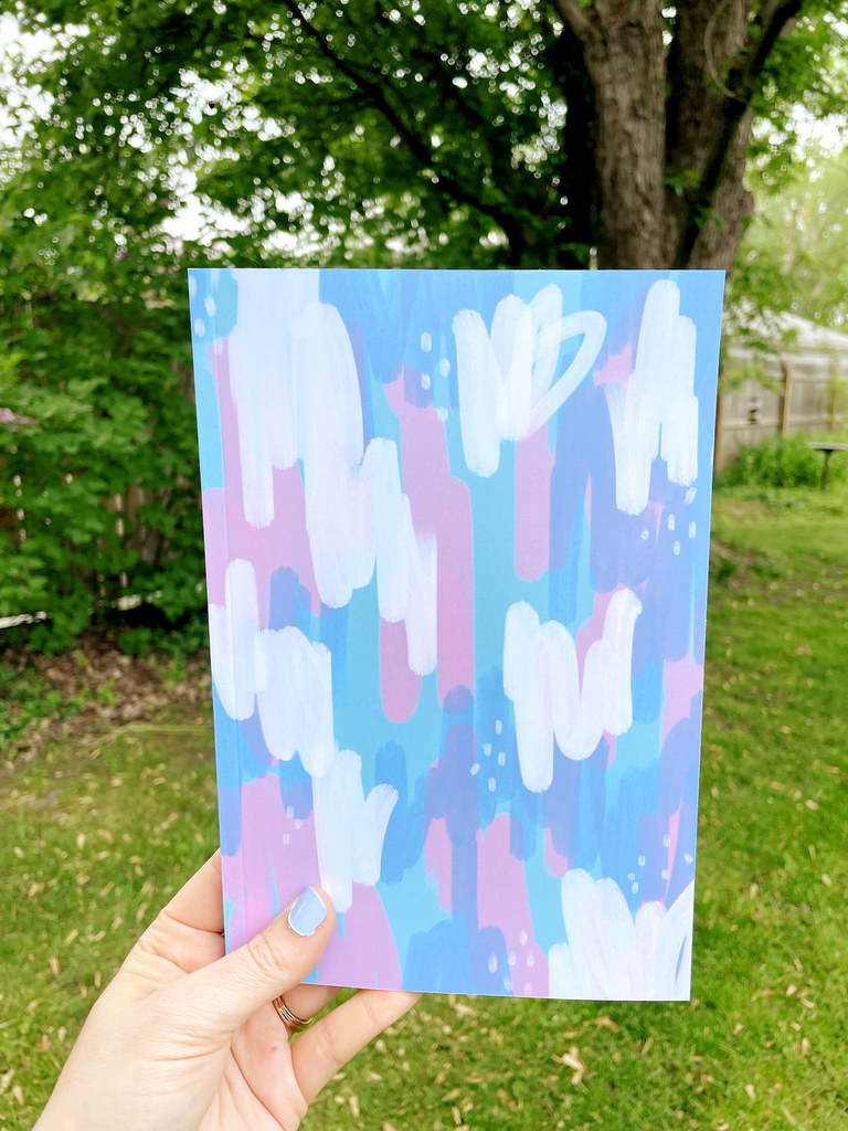 Abstract painting blank journal