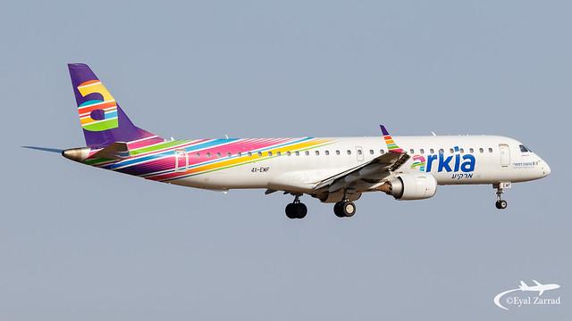 TLV - Arkia Israeli Airlines Embraer 195 4X-EMF