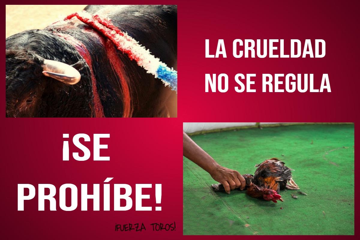La crueldad no se regula, SE PROHÍBE