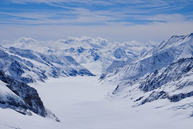 Aletsch Glacier view from Jungfraujoch