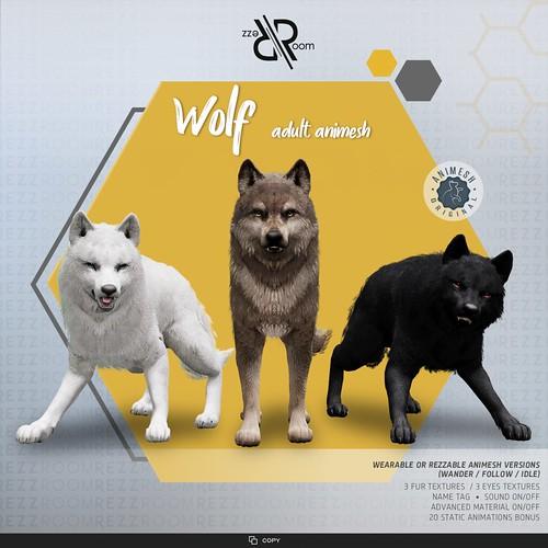 [Rezz Room] Wolf Adult Animesh (Companion)