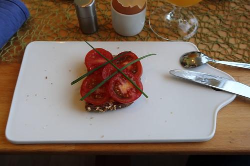 Tomatenbrot zum Abschluss