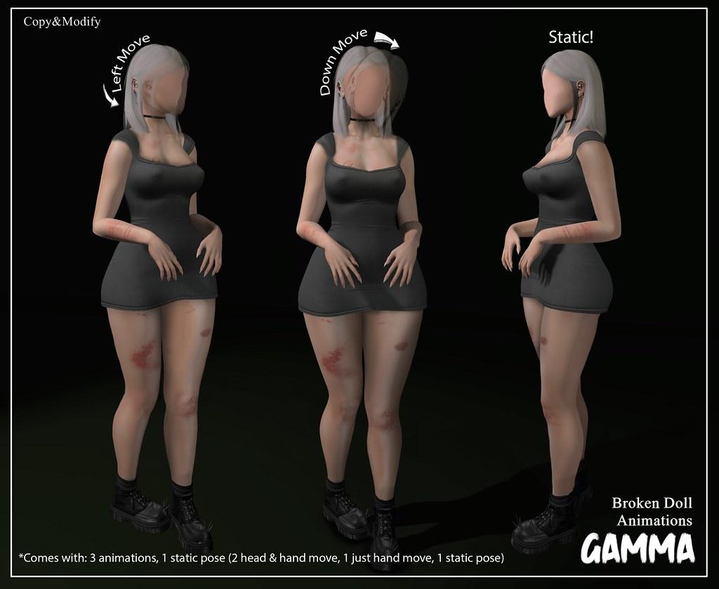Gamma – Broken Doll Animation Pack
