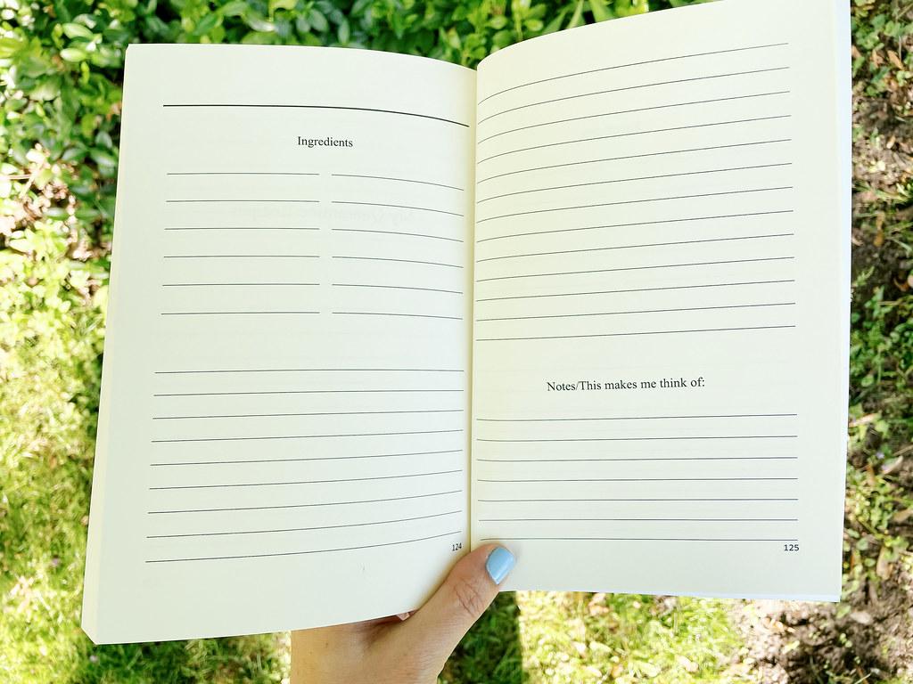 Recipe space in a quarantine journal