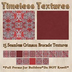TT 15 Seamless Crimson Brocade Timeless Textures