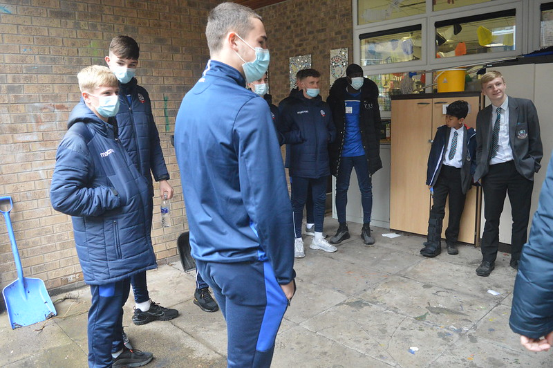 Bolton Wanderers first-year apprentices at Sharples School (2)