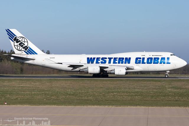 N344KD Western Global Airlines Boeing 747-446(BCF) (HHN - EDFH - Hahn)