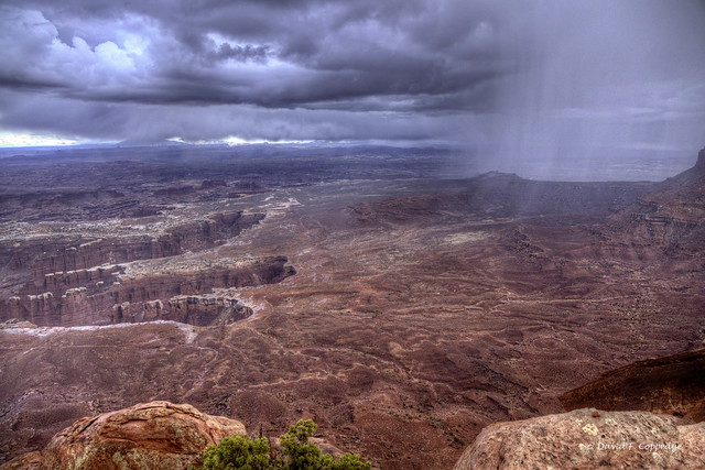 Grandview Point in a hailstorm