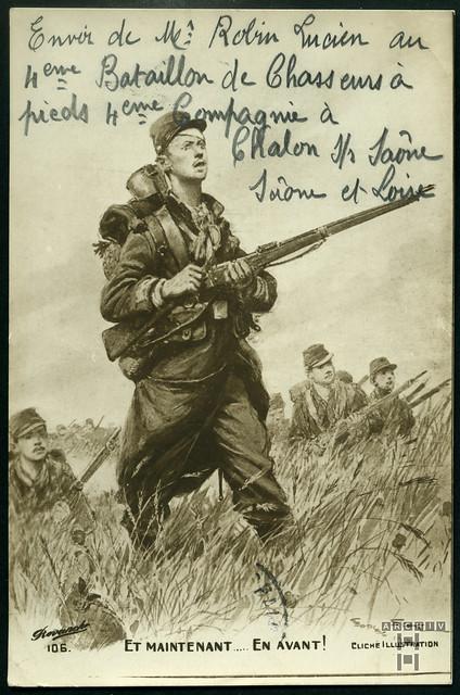 ArchivTappen233A911 Und jetzt vorwärts, Frankreich, Saône-et-Loire, 1913