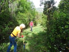 Entretien piste RG de la Sainte-Lucie : Michelle et Andy