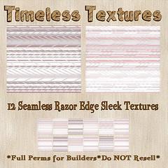 TT 12 Seamless Razor Edge Sleek Timeless Textures
