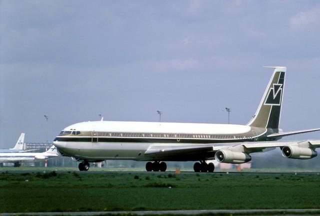 Executive Jet Boeing 707-321B N111MF seen storming down runway 24 at Amsterdam Schiphol