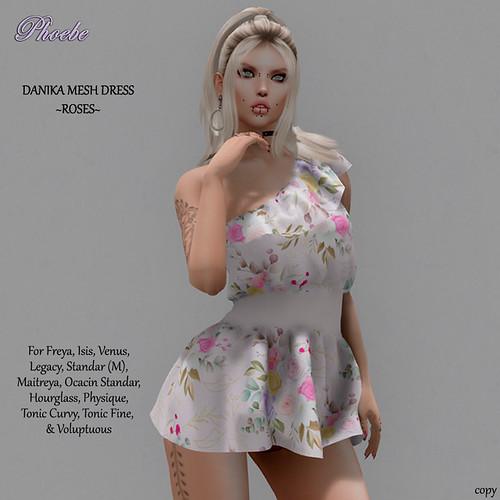 NEW GIFT! *P* Danika Mesh Dress ~Roses~