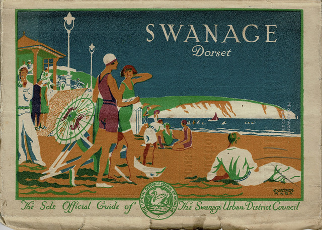 Swanage, Dorset, UK - the sole official guide of the Swanage Urban District Council, 1931