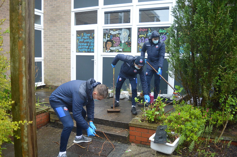 Bolton Wanderers first-year apprentices at Sharples School (14)