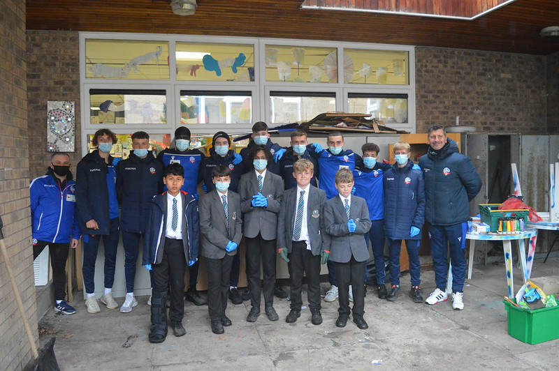Bolton Wanderers first-year apprentices at Sharples School (1)