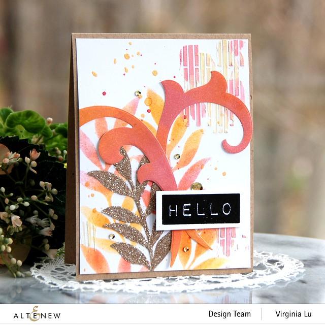 Altenew-Narrow Brick Stencil-Decorative Swirl Die Set-Mega Label Die-Embossing Paste