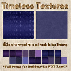 TT 18 Seamless Sensual Satin and Suede Indigo Timeless Textures