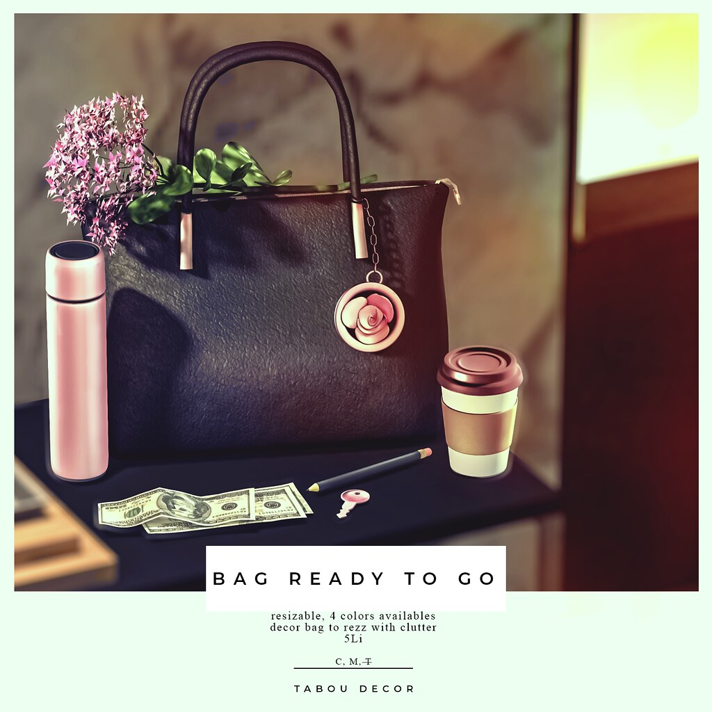 TABOU .Bag ready to go + Clutter