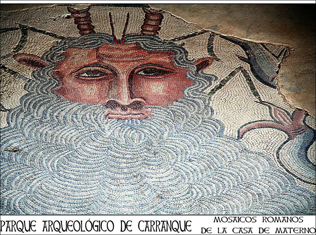 Mosaicos romanos de la Casa de Materno en Carranque
