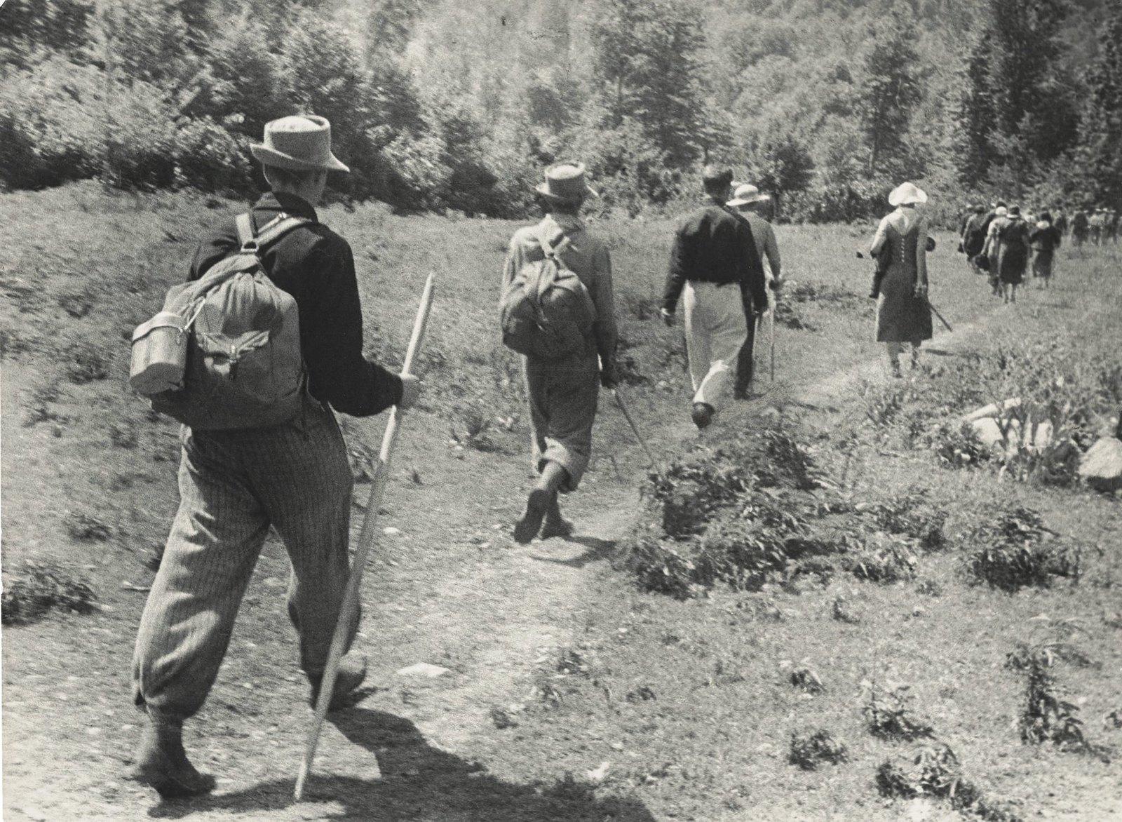 1938. Туристы. Кавказ