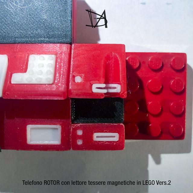 Telefono Rotor e Lettore tessere magnetiche in Lego, v.2