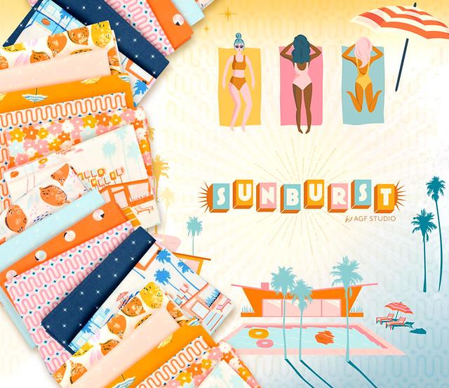 Art Gallery Fabrics Sunburst Collection by  AGF Studio