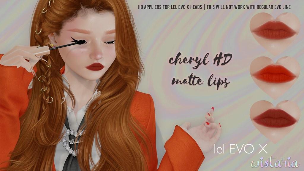{ wistaria } cheryl hd matte lips – lel evo x