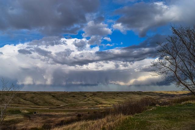 Sun, wind, clouds and rain