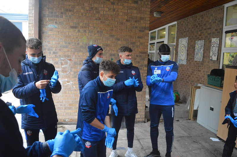 Bolton Wanderers first-year apprentices at Sharples School (4)