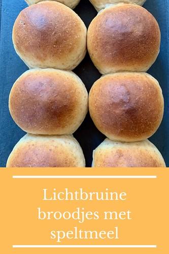 Lichtbruine broodjes met speltmeel