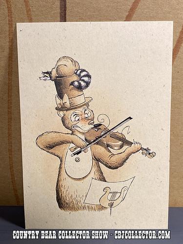 Vintage Tokyo Disneyland Henry Violin Postcard - CBCS 310