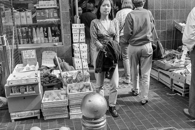 Chinese Greengrocer, Gerrard St, Soho, Westminster, 1990, 90-62-55