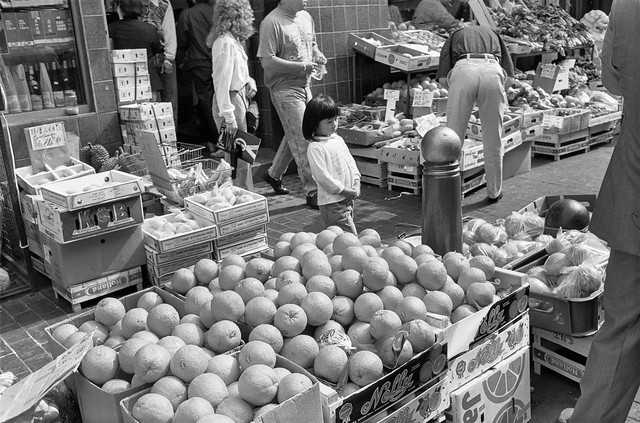 Chinese Greengrocer, Gerrard St, Soho, Westminster, 1990, 90-62-54