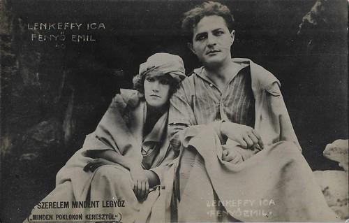 Ica Lenkeffy and Emil Fenyö in A szerelem mindent legyöz