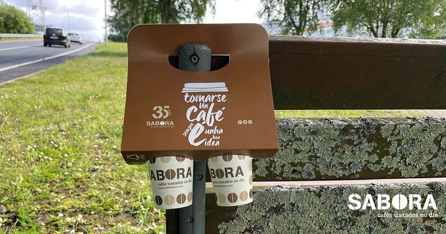 Asas para vasos take away - Cafés Sabora