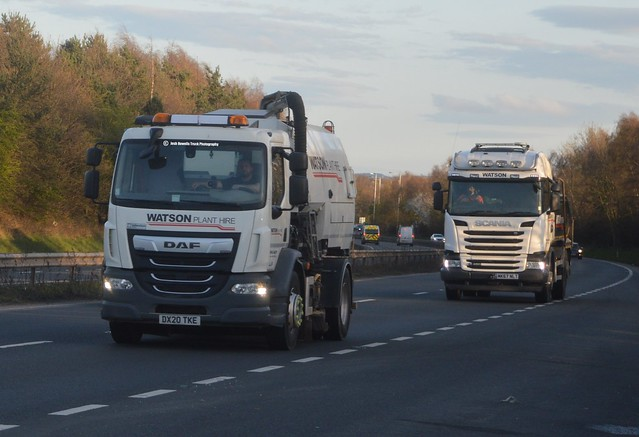 Watson Plant Hire DX20 TKE & MK67 NLT Driving Along The A5 At Shrewsbury