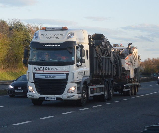 Watson Plant Hire DS65 NPZ Driving Along The A5 At Shrewsbury