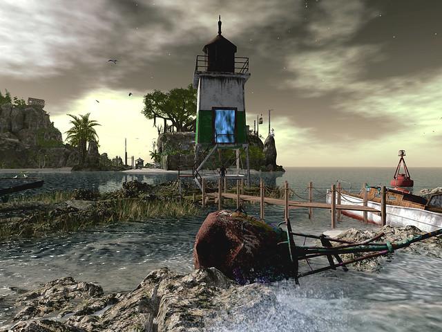 Hidden Bottle - Rusty Lighthouse of the Imagination