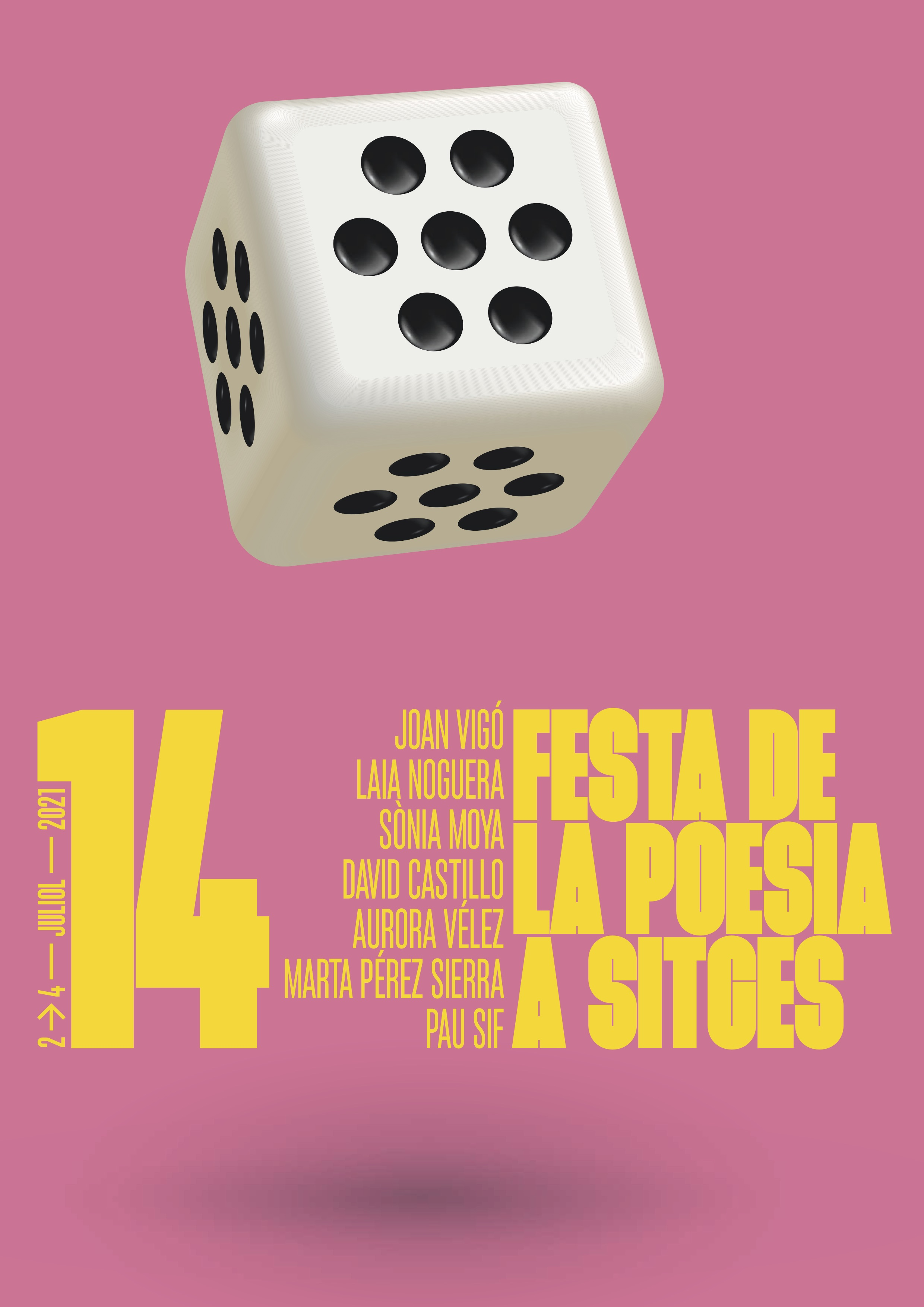 Cartell Festa Poesia Sitges 2021