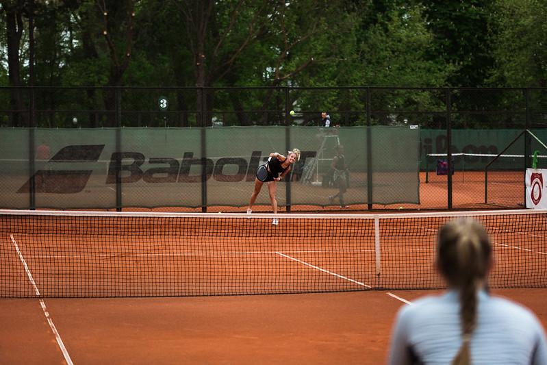 """Starptautiskās ITF pasaules tenisa tūres W25 kategorijas sacensības sievietēm """"Liepaja Open"""" 3.diena (kvalifikācija). Foto: Mārtiņš Vējš / 3rd day of ITF Women's World Tennis Tour W25 category """"Liepaja Open"""" (qualifiers). Photo: Mārtiņš Vējš"""