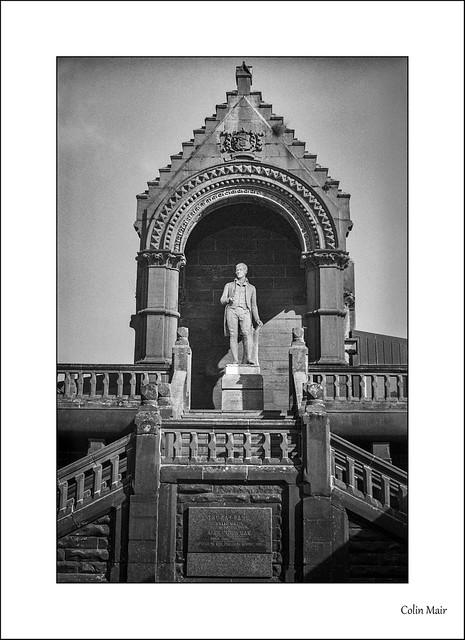 Rabbie Burns - Industar 50, 50mm, Kilmarnock, Kay Park, Burns Monument, 1/500th, f8, Hand Held, 7th April 2021