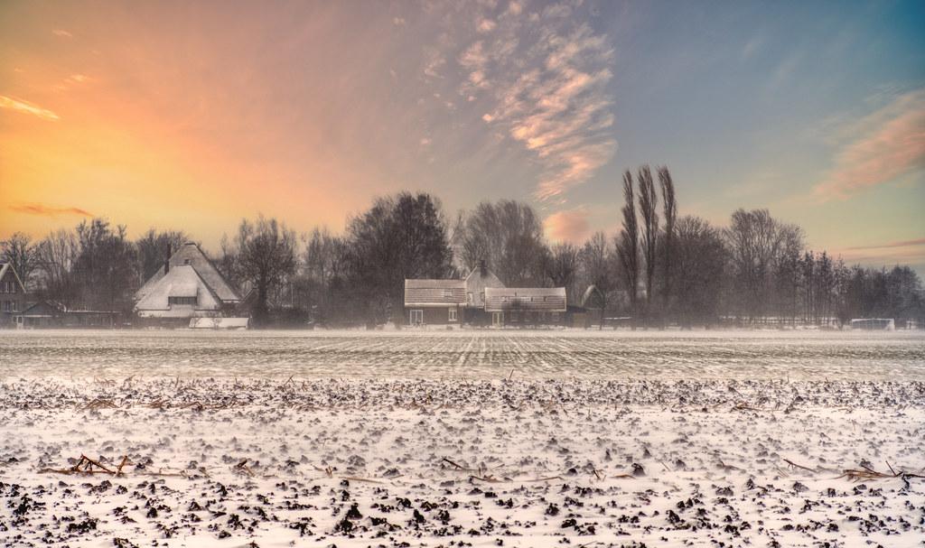 Wintery Schoorldam, Holland.