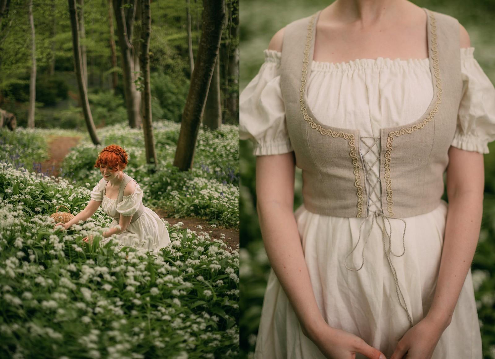 spring hobbit,hobbithearted, hobbit fashion, hobbit clothes, cottagecore, cottagecore dress, cottagefairy, fairycore, voriagh, folk fashion