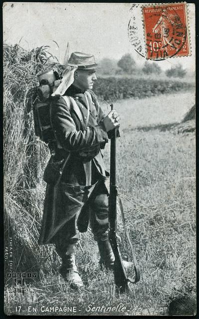 ArchivTappen233A919 Wache in der Campagne, Frankreich, 18. September 1908