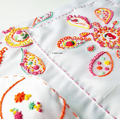 embroidery on silk