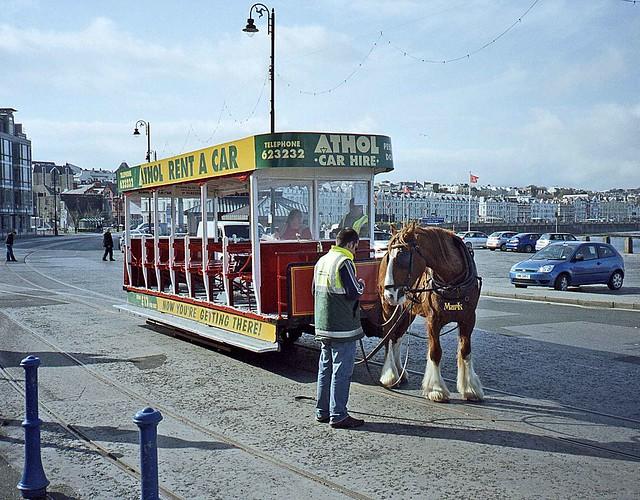 Douglas horse tram at Victoria Pier