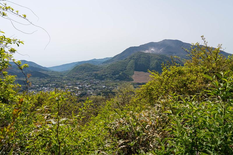 箱根の神山が見える