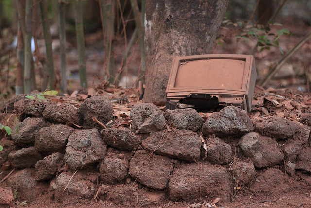 Old TV Collecting Dust - Konkan, India, 2012